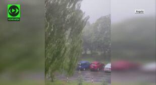 Gwałtowna pogoda w Poznaniu
